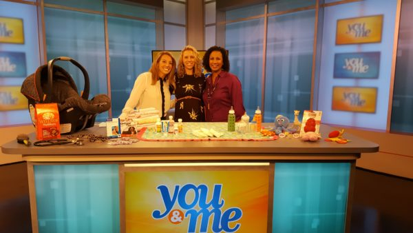 Dr. Derse with Melissa and Jeanne after her WCIU-TV Babies & Pets Prep segment.